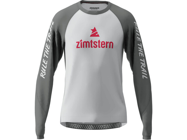 Zimtstern PureFlowz Trøje m. hætte Herrer, glacier grey/gun metal/cyber red